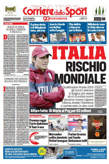 Corriere dello Sport | 26 luglio 2015