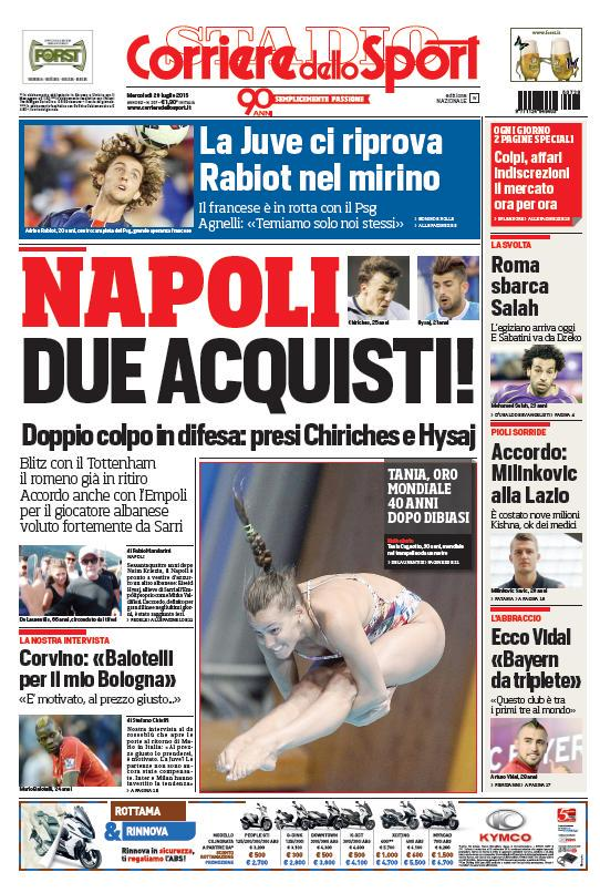 Corriere dello Sport | 29 luglio 2015