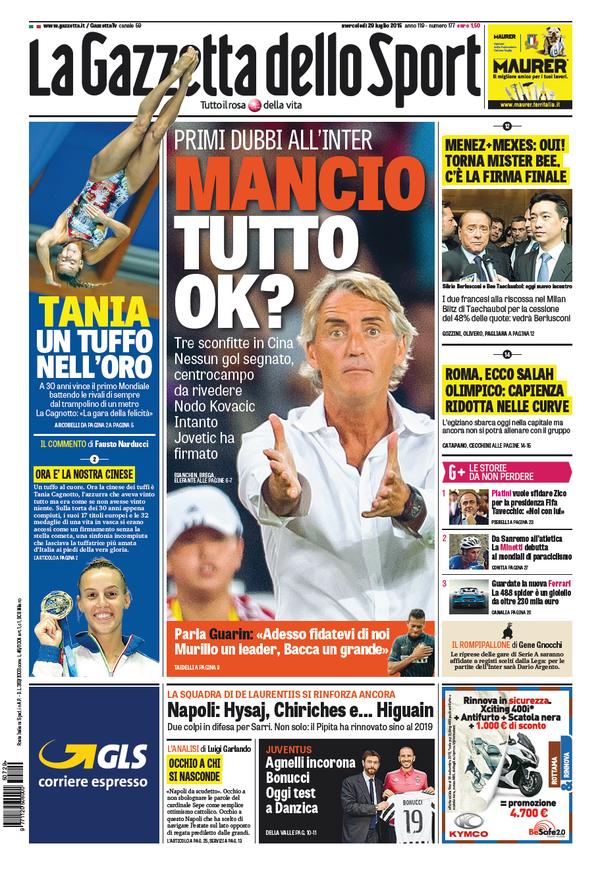 La Gazzetta dello Sport | 29 luglio 2015