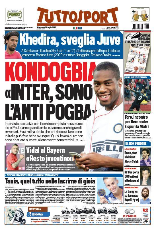 Tuttosport | 29 luglio 2015