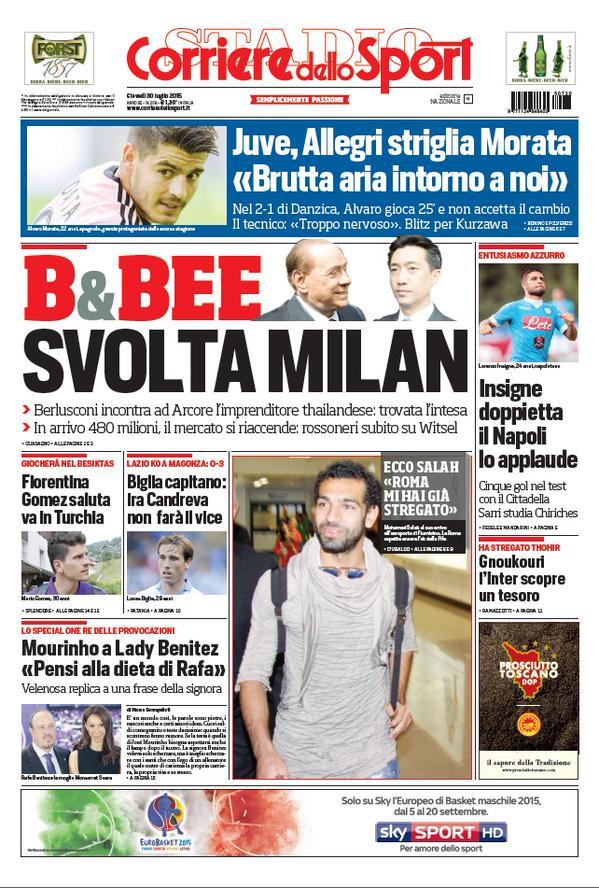 Corriere dello Sport | 30 luglio 2015