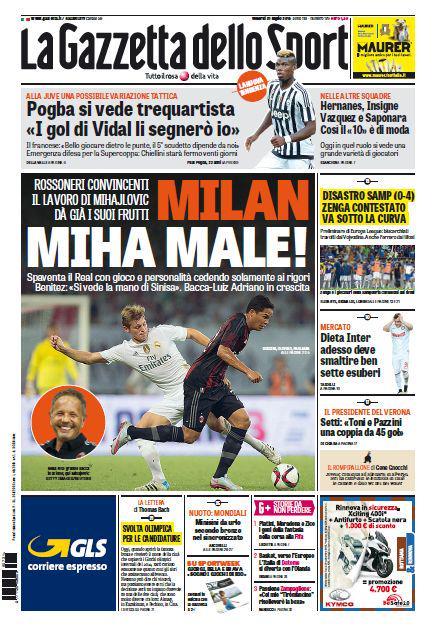 La Gazzetta dello Sport | 31 luglio 2015
