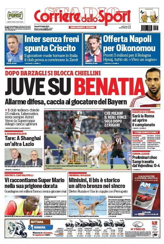 Corriere dello Sport | 31 luglio 2015