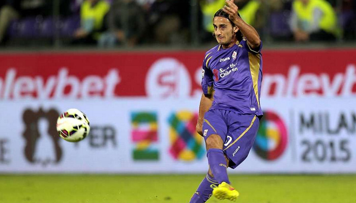 Alberto Aquilani con la maglia della Fiorentina