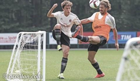 Calabria vs Cerci in allenamento