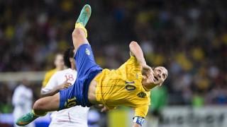 Ibrahimovic con la maglia della Svezia