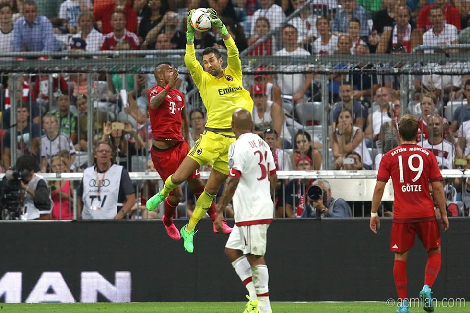 Diego Lopez in Bayern Monaco-Milan 3-0, Audi Cup