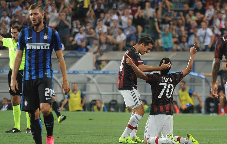 Bacca in Milan-Inter 2-1, Trofeo TIM