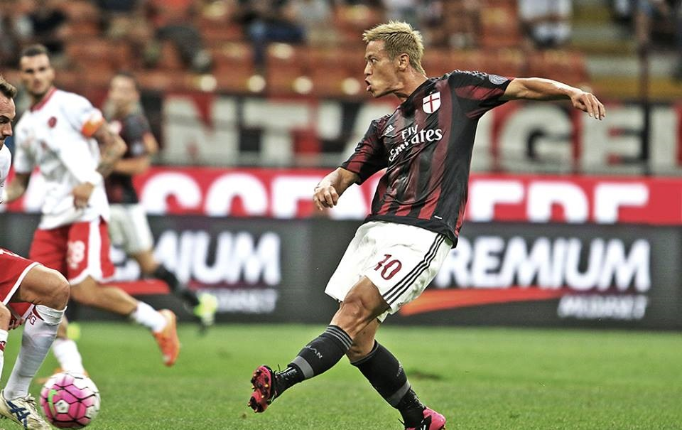 Keisuke Honda in Milan-Perugia 2-0, TIM Cup