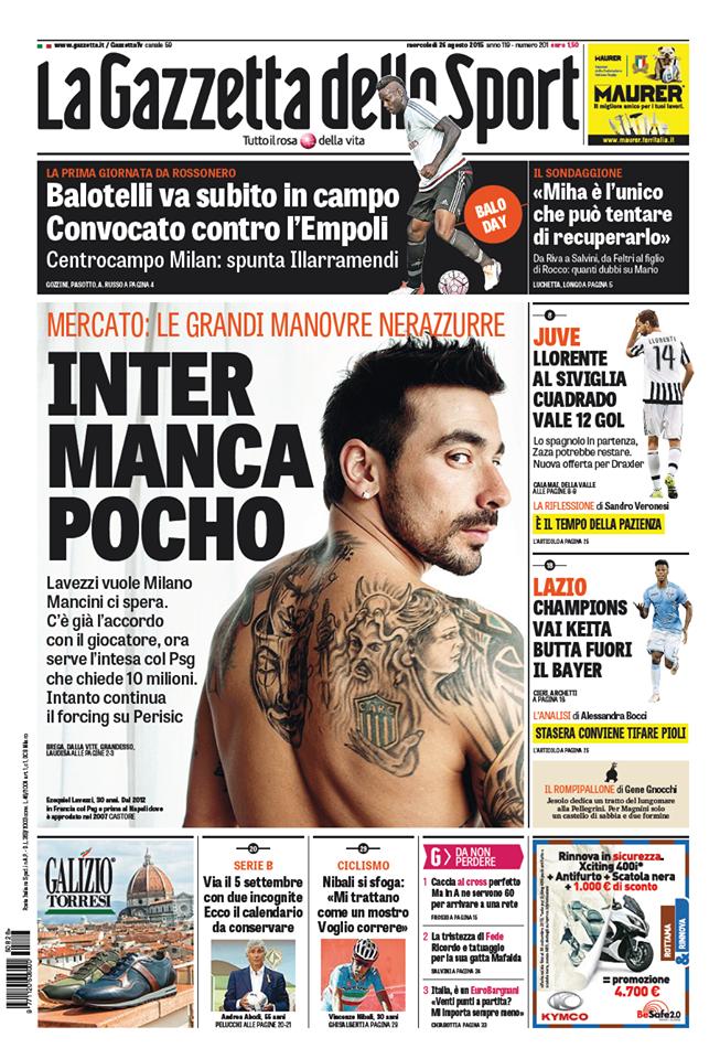 La Gazzetta dello Sport | 26 agosto 2015