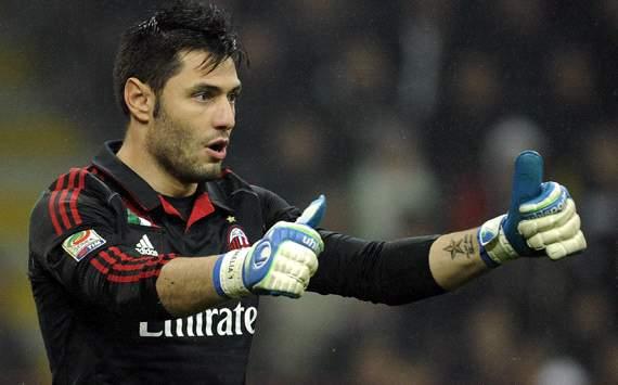 Marco Amelia con la maglia del Milan