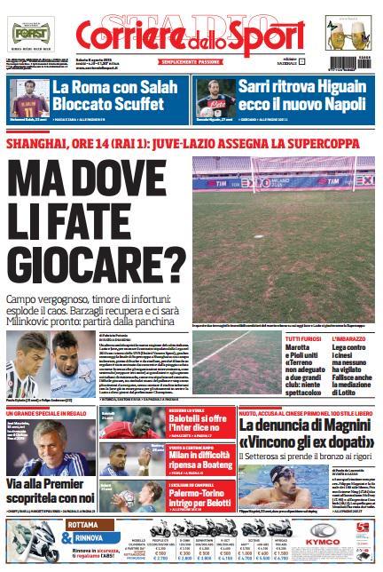 Corriere dello Sport | 8 agosto 2015