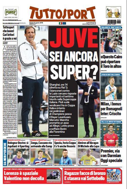 Tuttosport | 8 agosto 2015