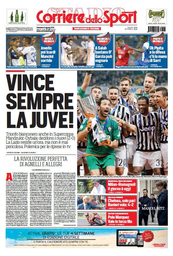 Corriere dello Sport | 9 agosto 2015