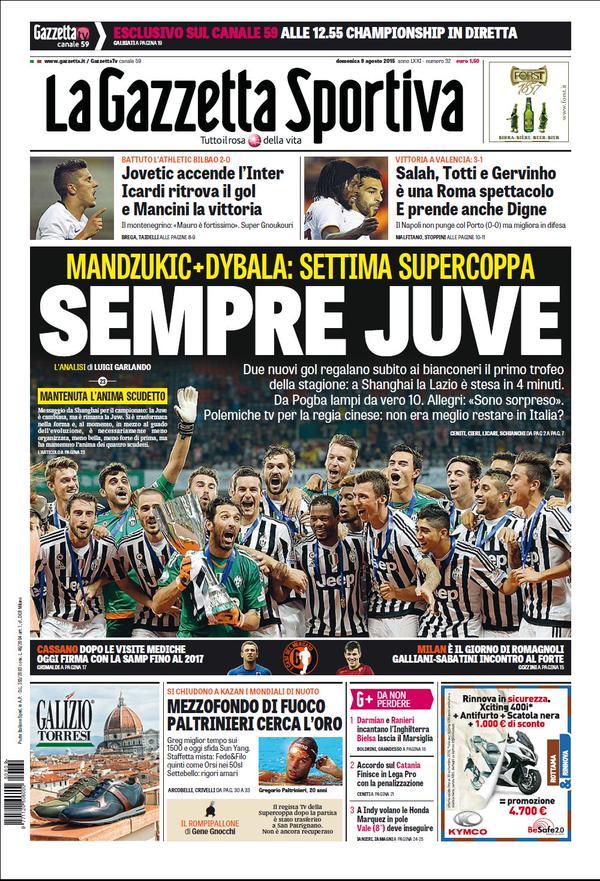 La Gazzetta dello Sport | 9 agosto 2015