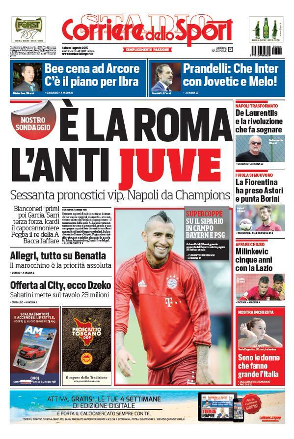 Corriere dello Sport | 1 agosto 2015