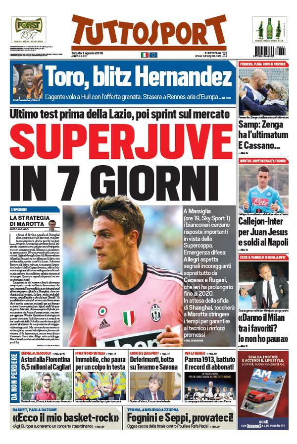 Tuttosport | 1 agosto 2015