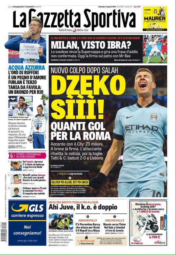 La Gazzetta dello Sport | 2 agosto 2015