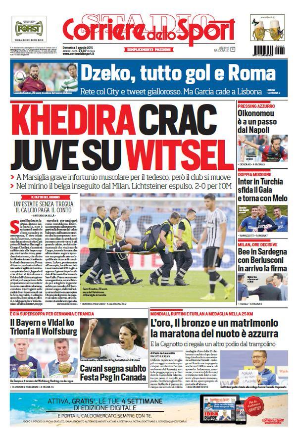 Corriere dello Sport | 2 agosto 2015