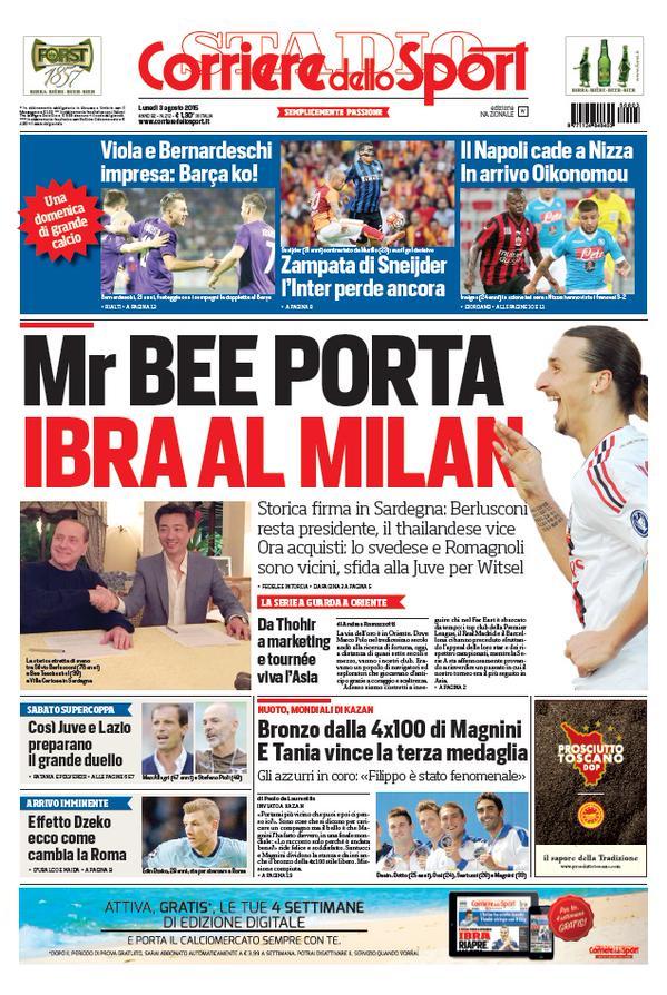 Corriere dello Sport | 3 agosto 2015