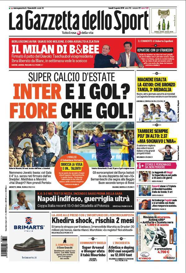 La Gazzetta dello Sport | 3 agosto 2015