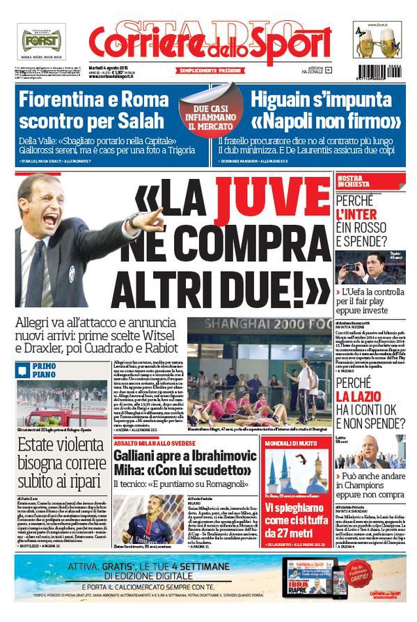 Corriere dello Sport | 4 agosto 2015
