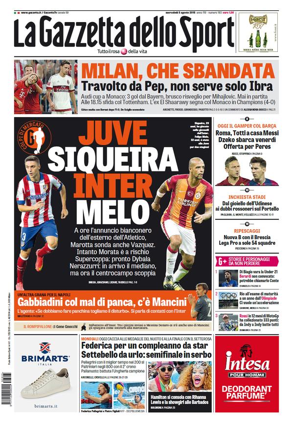 La Gazzetta dello Sport | 5 agosto 2015