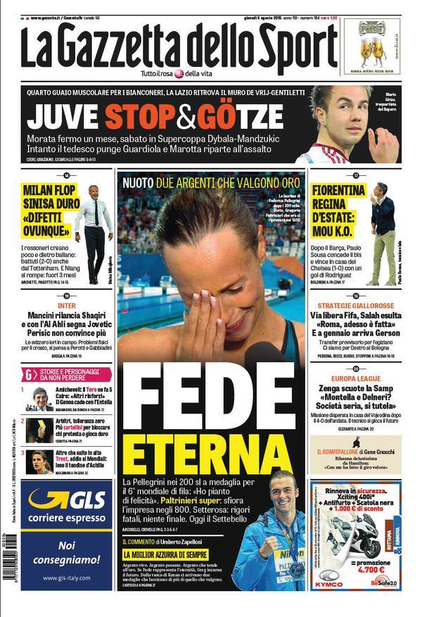 La Gazzetta dello Sport | 6 agosto 2015