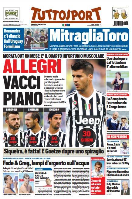 Tuttosport | 6 agosto 2015