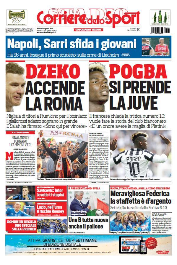 Corriere dello Sport | 7 agosto 2015