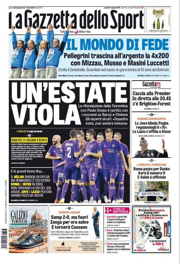La Gazzetta dello Sport | 7 agosto 2015