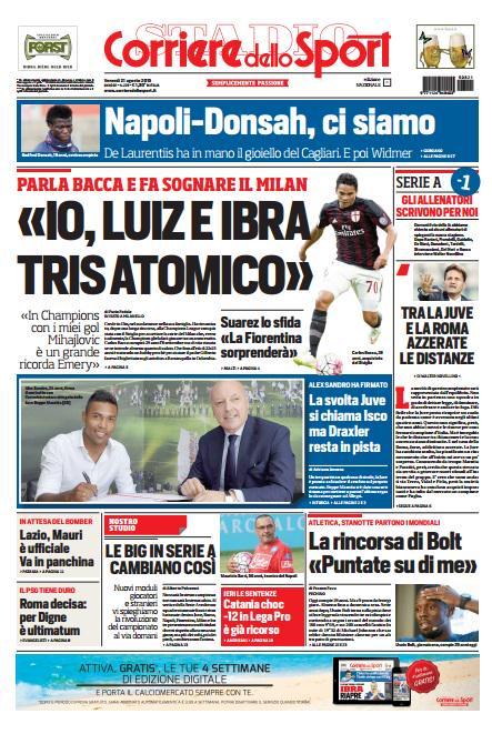Corriere dello Sport | 21 agosto 2015