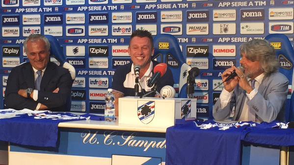 Presentazione Cassano, Sampdoria