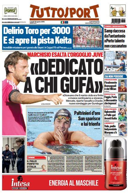 Tuttosport | 10 agosto 2015