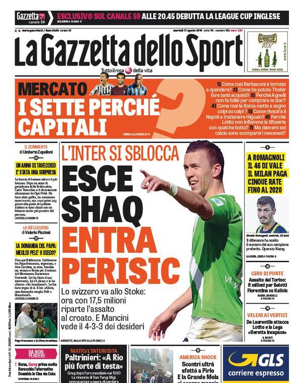 La Gazzetta dello Sport | 11 agosto 2015