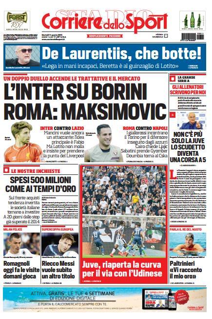 Corriere dello Sport | 11 agosto 2015