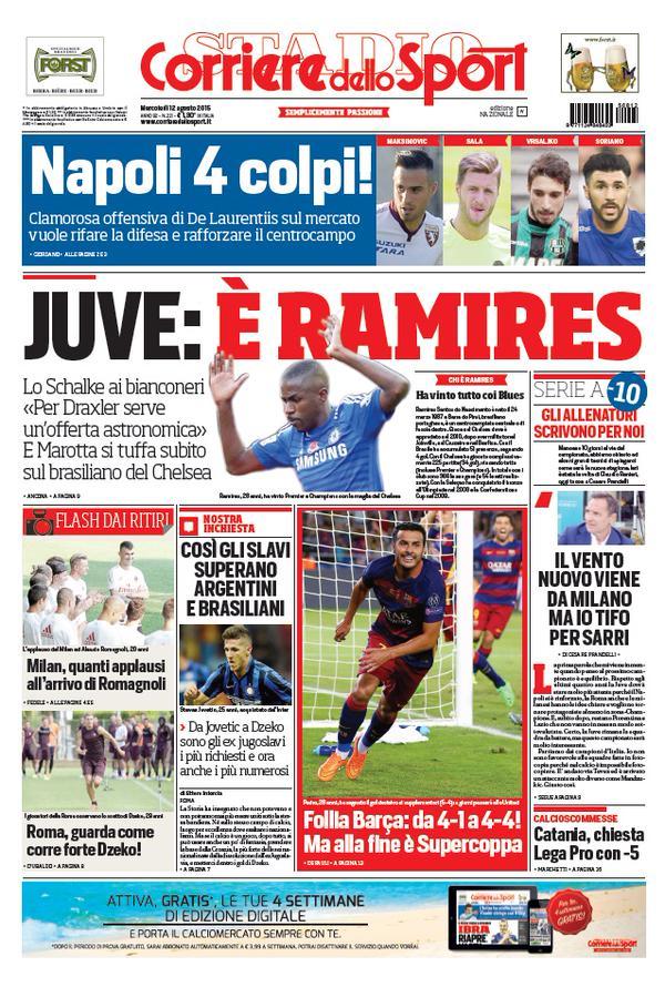 Corriere dello Sport   12 agosto 2015