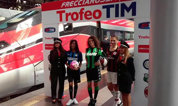 Milan e Inter viaggiano sullo stesso Frecciarossa per Reggio Emilia