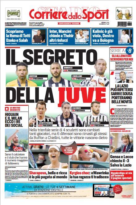Corriere dello Sport | 14 agosto 2015