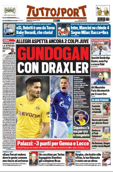 Tuttosport | 14 agosto 2015