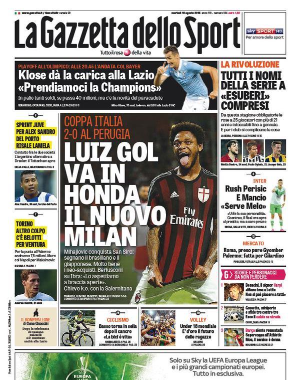 La Gazzetta dello Sport | 18 agosto 2015