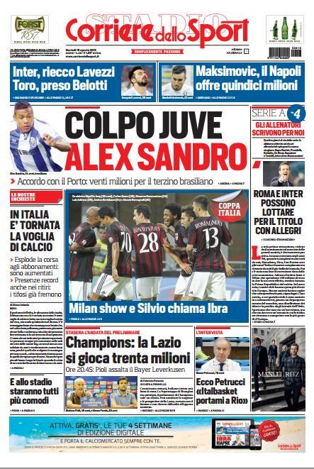 Corriere dello Sport | 18 agosto 2015