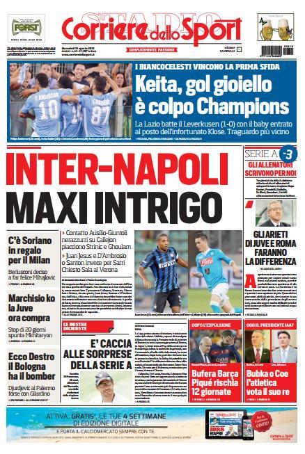 Corriere dello Sport | 19 agosto 2015