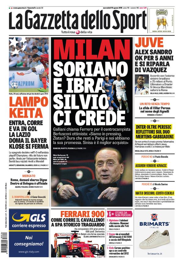 La Gazzetta dello Sport | 19 agosto 2015