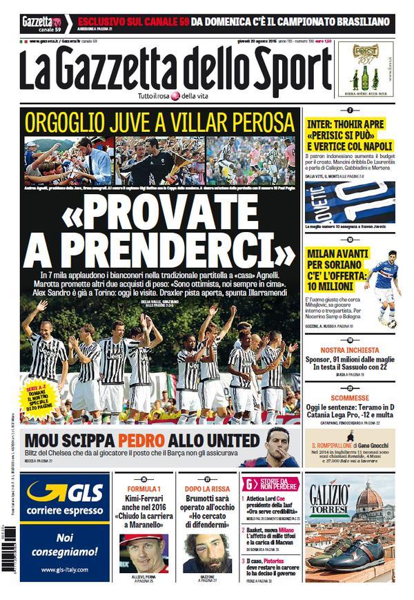 La Gazzetta dello Sport | 20 agosto 2015