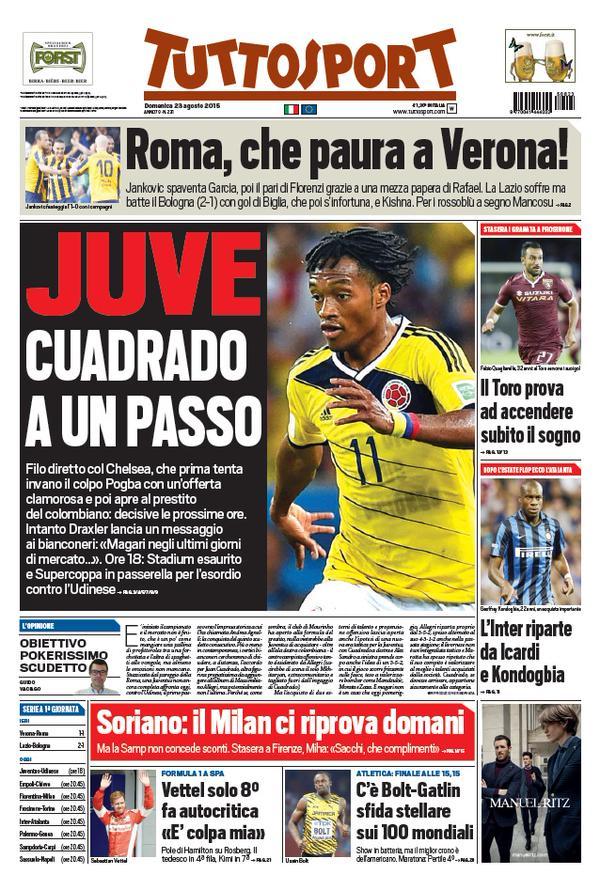 Tuttosport | 23 agosto 2015