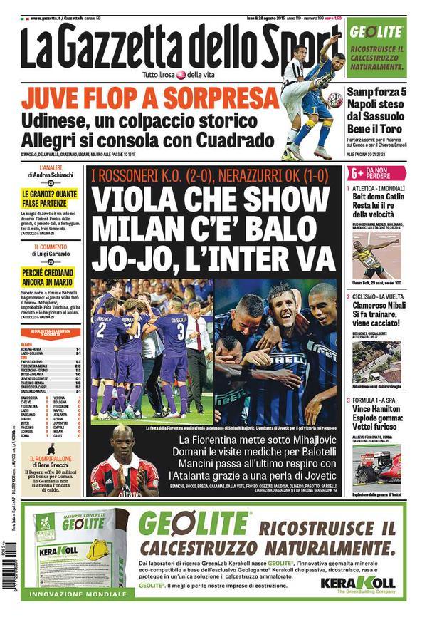 La Gazzetta dello Sport | 24 agosto 2015