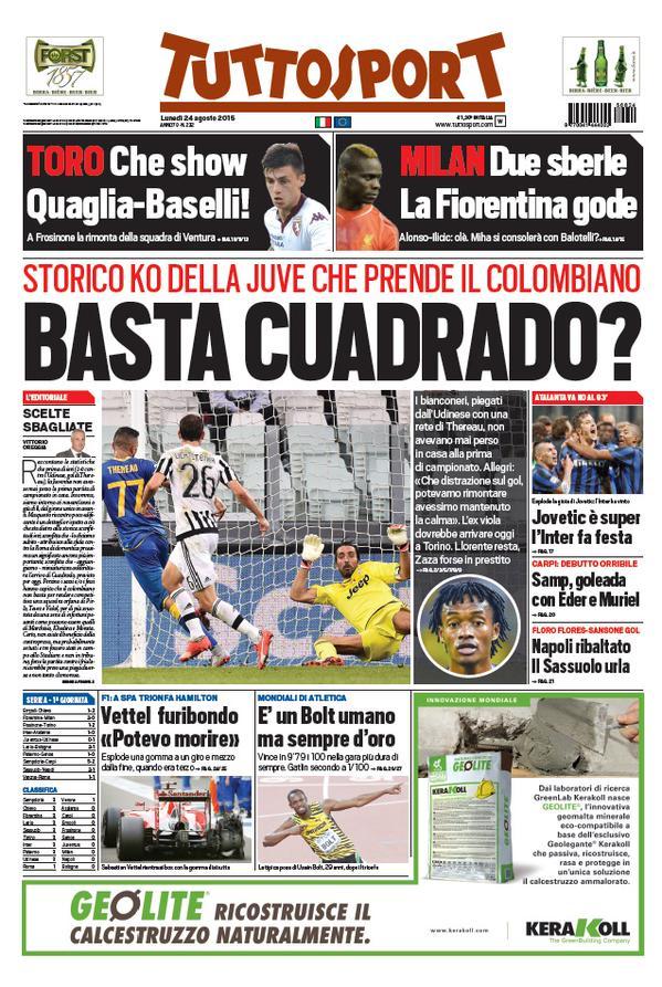 Tuttosport | 24 agosto 2015