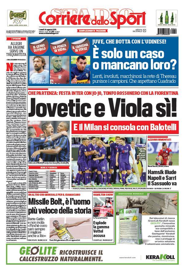Corriere dello Sport | 24 agosto 2015