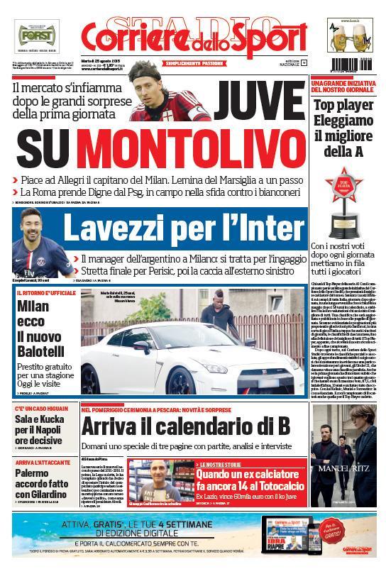 Corriere dello Sport | 25 agosto 2015